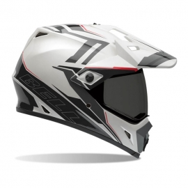 Moto helma BELL MX-9 Adventure Barricade White - L