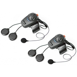 Sena SMH5D-02 Low-Profile Motorcycle and Scooter Bluetooth Headset / Intercom for Full-Face Helmets (Dual)
